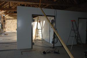 Couloir atelier de transformation vers salles d'affinage