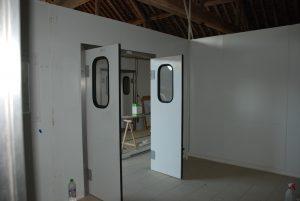 Salle de réception du lait vers salle de fabrication