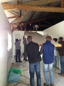 Démontage atelier de transformation pour nouvelle construction à Pécy
